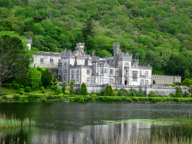 Kylemore Abbey at Connemara.
