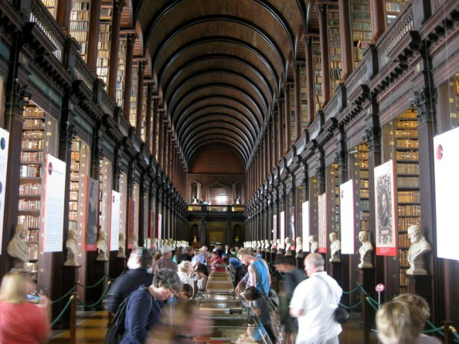 The Long Room at Trinity College, Dublin.