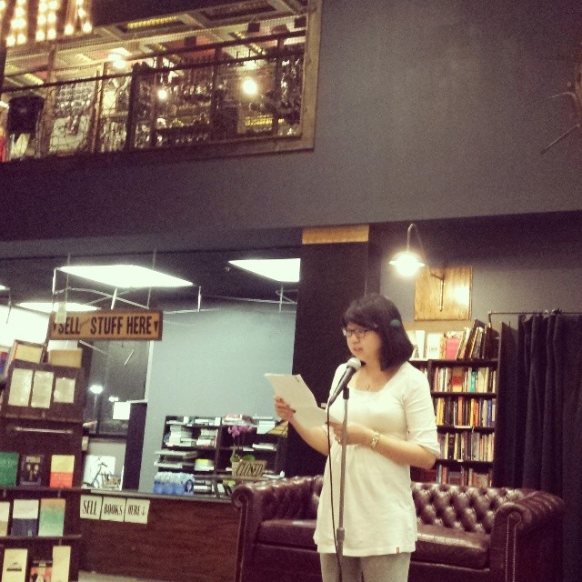 Reading my short story at The Last Bookstore.